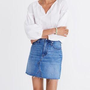 Madewell Denim Frisco Miniskirt in Leandra Wash
